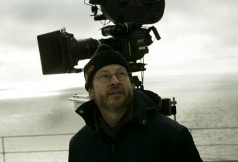 Lars Von Trier on set