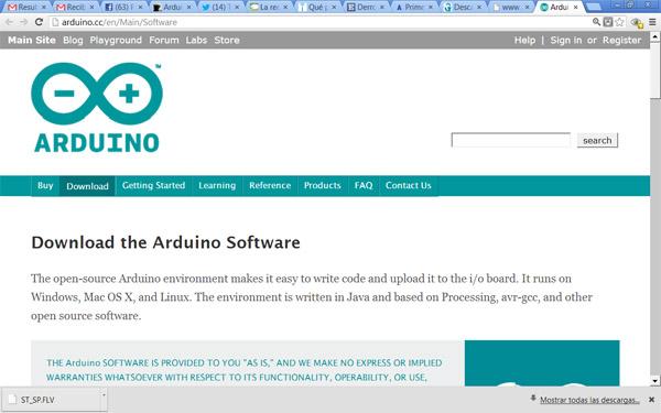 Arduino bajar el software e instalar los drivers de