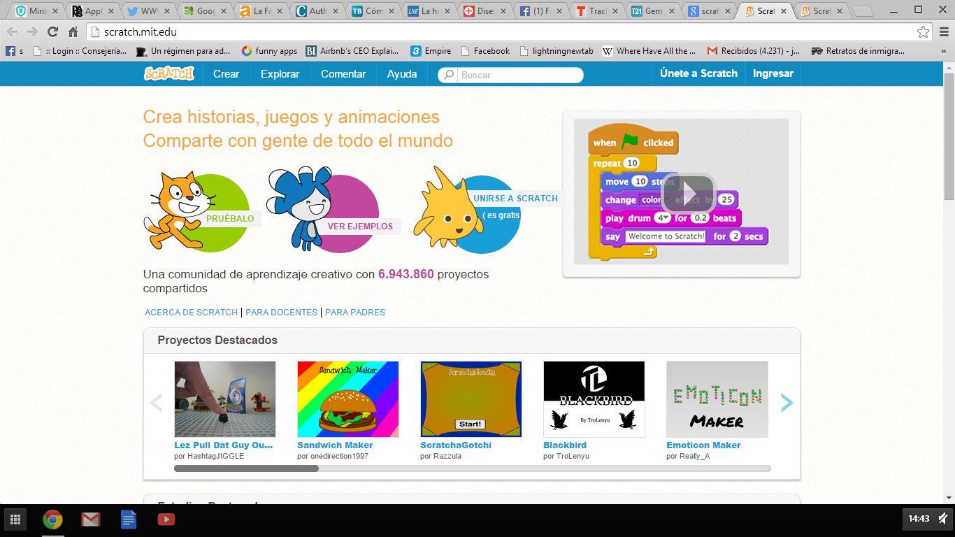 Scratch – 1º Presentacion del Curso de Scratch para quien no sabe ...