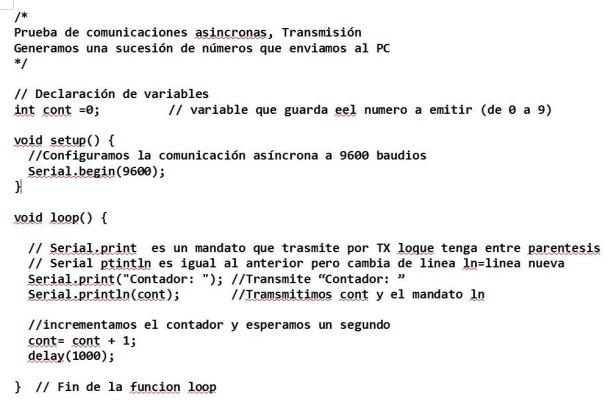 prueba conunicaciones transmision